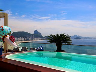 5 suites penthouse with private pool in Copacabana in Rio de Janeiro