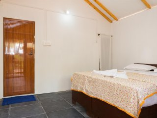 One of the longer standing beach resorts on Palolem Beach in south Goa. RM.4