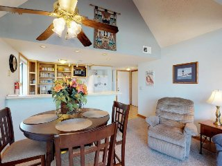 Family-friendly beachside getaway w/shared pool, sauna, hot tub, & tennis courts