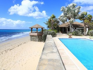 Villa Blue Beach  ^ Beach Front # Located in  Wonderful Baie Longue with Private