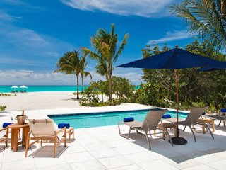 Beach House At Hawkbill Beach Front Located in Wonderful Grace Bay with Pri