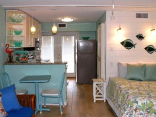 Waterfront studio condo w/ shared pools, near popular attractions! Dogs ok!