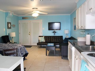 Waterfront studio retreat w/ shared pools & great location - dogs welcome!