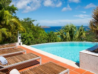 Villa Lataniers * Ocean View | Located in  Wonderful Saint Jean with Private Poo