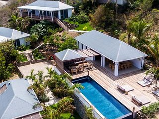 Villa Coco Rock  - Ocean View | Located in  Tropical Petit Cul de Sac with Priva