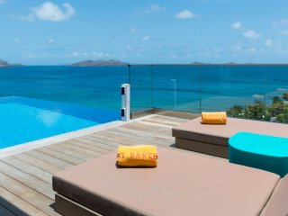 Villa Upside (Located On Pointe Milou Hillside, In St Barth. It Is Overlooking T