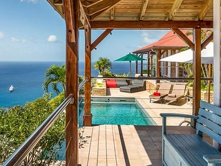 Villa Hurakan  ^ Ocean Front - Located in  Magnificent Colombier with Private Po