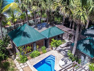 Villa Palm House  | Ocean Front # Located in  Tropical Anse des Lezards with Pri