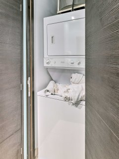 Keep clothes clean with the addition of in-unit laundry machines.
