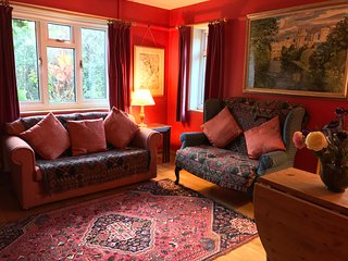 Croftsbrook red living room, sitting dining room