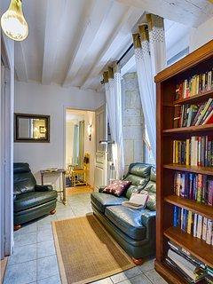 Coin repos avec bibliothèque