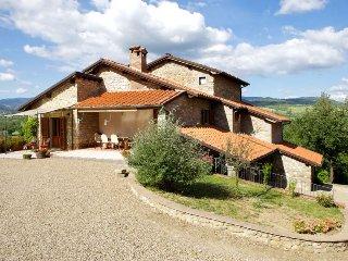4 bedroom Villa in Castel San Niccolò, Tuscany, Italy : ref 5490485