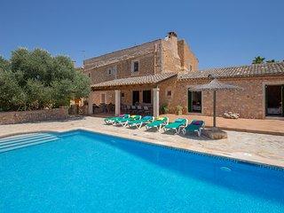 Villa cerca de Felanitx para 9 personas con piscina privada y Wifi internet