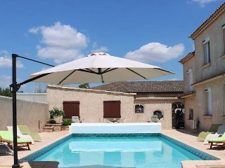 Sauvian South France villa to rent near beach with pool sleeps 12
