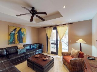 Elegant beachfront condo with shared pool, upscale fixtures & ocean views!