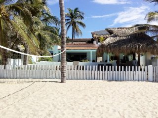 Awesome Beach Front Villa, staffed, full service, infinity pool, sleeps up to 25