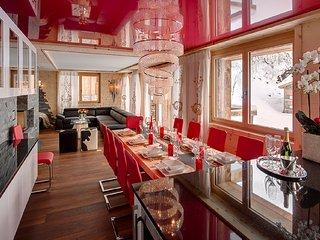 Luxury 3 Bed Chalet Sleeping 6 With Whirlpools In Zermatt