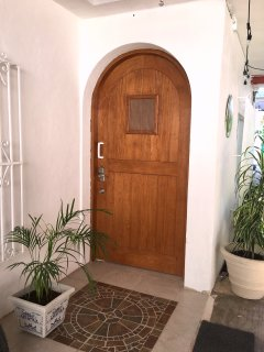 Entrance door to House once inside gated area