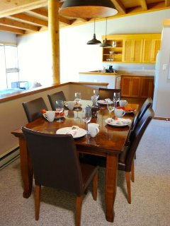 Seating for six at dining room table