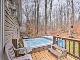 Charming Pocono Lake Home w/ Private Hot Tub!