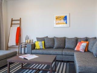 Orange Apartment living space