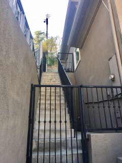 Stairs to guest bedroom private entrance