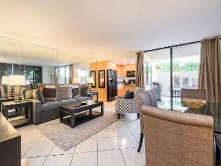 Quiet Condo with All-New Furnishings, Pool, Hot Tub, Private Patio & Balcony