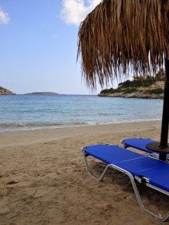 Loutraki beach, a nice little bay on the southeast side of the Akrotiri peninsula