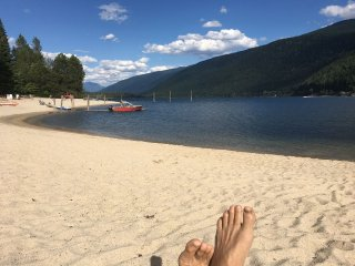 Beachfront suite on Kootenay Lake, Nelson BC