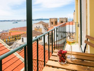 Alfama Balcony River View 11 by Lisbonne Collection