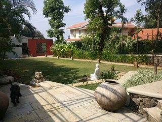 Yoga Deck Area behind the Lord Budhha