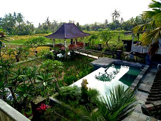 Uma Caming Villa-  infinity swimming pool, rice field