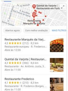 Opções de restaurantes no bairro, próximos ao HOSTEL ARAÚJO.