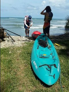 Guests returning from a sea kayak fishing adventure.  Amazing fishing here.  Delicious