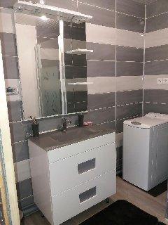 Salle de bain  bas Gîte AUGIFI