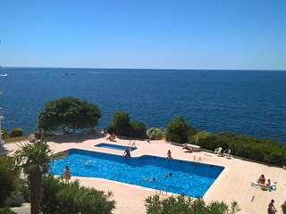 DELFINROSAS7 vue piscine+acces mer direct