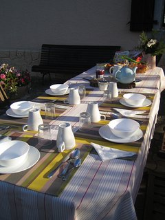 Breakfast on the terrace (just let us know the day before).