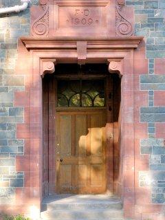 Front door of Dun Aluinn, built 1909