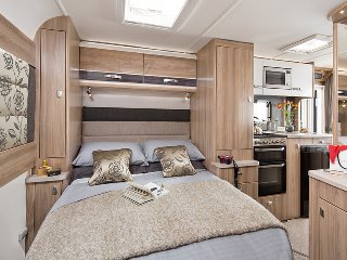The island bed in our Grace motorhome