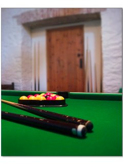 Games room with table football, pool and table tennis tables