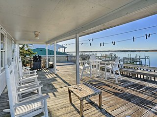 Waterfront Topsail Beach Home w/ Deck & Views!