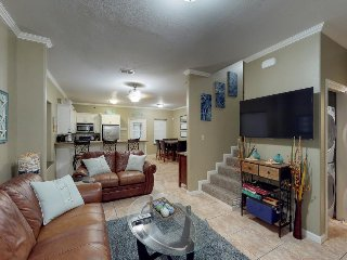 Contemporary dog-friendly getaway with a shared pool, hot tub, and tons of room!