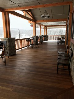 Spend afternoons sipping a cocktail on the Mountain View Winery deck!