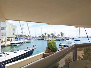 Spectacular Views!  Waterfront Marina Island Apt Benalmadena  A/C Wifi Pool