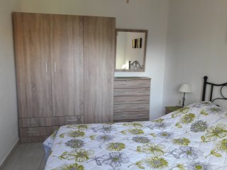 The recently renovated bedroom with ample storage