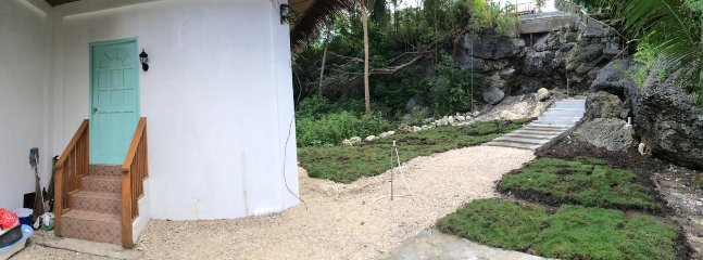 Back of beach house (Landscaping construction)