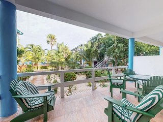 Tranquil tropical escape with ocean views, shared pool, and easy beach access