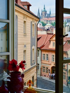 View to Prague Castle for Living room.