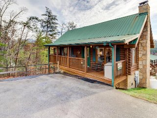 Dog-friendly cabin w/ private hot tub & shared seasonal pool - great location!