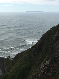 Hartland lighthouse and Lundy Island (nearby)